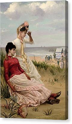On The Beach Canvas Print by George van den Bos