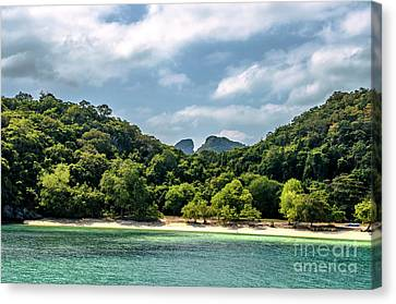 Angthong Canvas Print - On The Beach by Michelle Meenawong