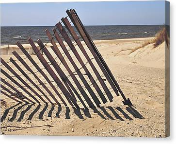 On The Beach Canvas Print by Odd Jeppesen