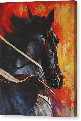 Canvas Print featuring the painting On The Black by Harvie Brown