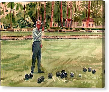 On The Bowling Green Canvas Print by Donald Maier