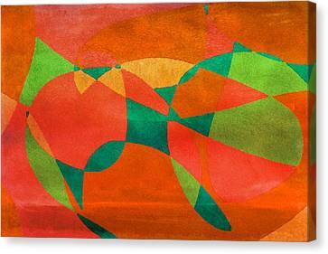 On The Brink Canvas Print by Bonnie Bruno