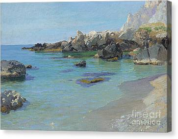 Calming Canvas Print - On The Capri Coast by Paul von Spaun