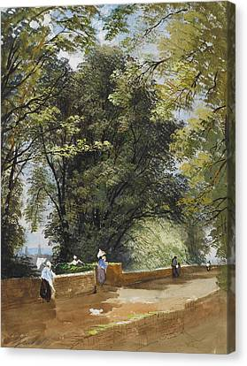 On The Castle Wall, Exeter Canvas Print by John Gendall