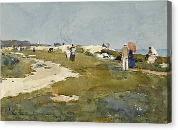 On The Chalk Cliffs. Broadstairs Canvas Print
