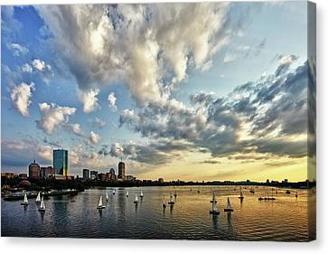 Hancock Building Canvas Print - On The Charles II by Rick Berk