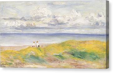 On The Cliffs Canvas Print by Pierre Auguste Renoir