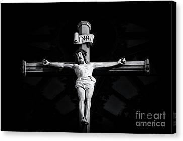 On The Cross Canvas Print by Tim Gainey