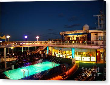 On The Cruise Canvas Print by Cesar Marino