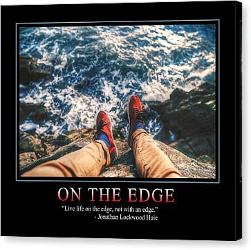 On The Edge Canvas Print by Dave Lee