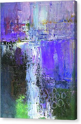 Canvas Print featuring the painting On The Edge by Nancy Merkle