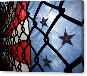 Canvas Print featuring the photograph On The Fence by Robert Geary