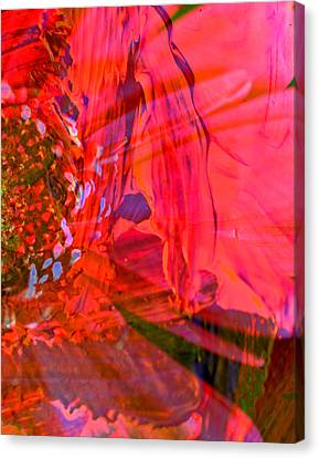 On The Floral Edge  Canvas Print