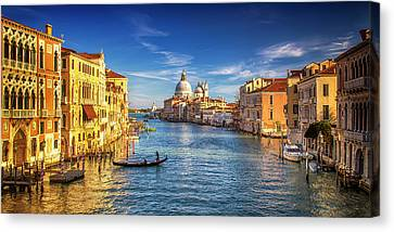 Canvas Print featuring the photograph On The Grand Canal by Andrew Soundarajan