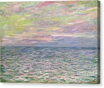 Setting Canvas Print - On The High Seas by Claude Monet