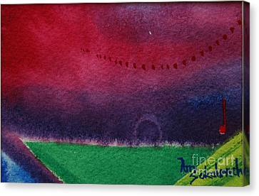 On The Horizon Canvas Print by Ann Sokolovich