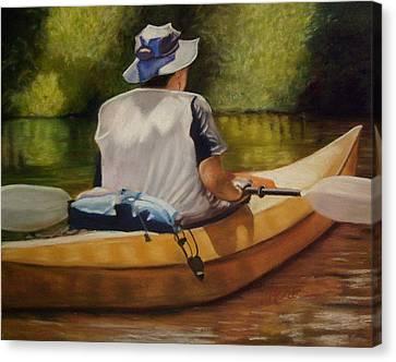 On The Kickapoo Canvas Print by Marcia  Hero