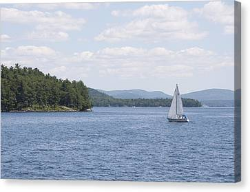 On The Lake Canvas Print by Paul Godin