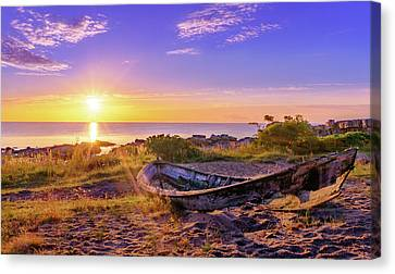 Canvas Print featuring the photograph On The Last Shore by Dmytro Korol