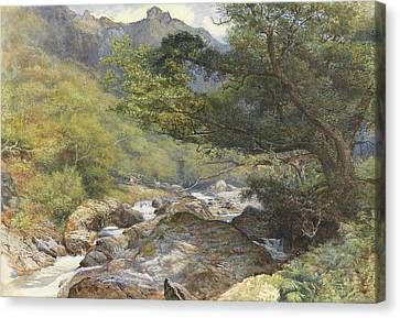 On The Lyn, North Devon Canvas Print by William Henry Millais