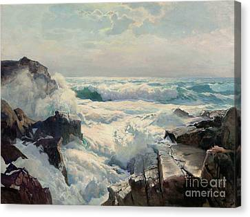 On The Maine Coast Canvas Print by Pg Reproductions