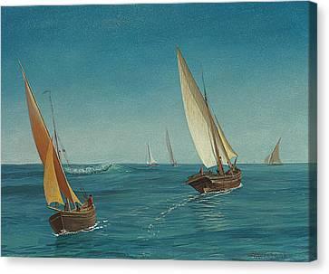 On The Mediterranean  Canvas Print by Albert Bierstadt