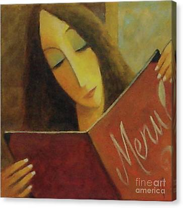 Canvas Print featuring the painting On The Menu by Glenn Quist
