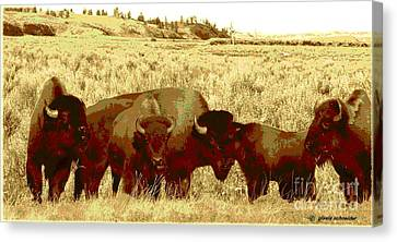 Giselaschneider Canvas Print - On The Move ... Montana Art Photo by GiselaSchneider MontanaArtist