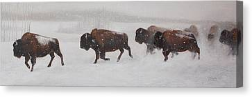 On The Move Canvas Print by Tammy  Taylor
