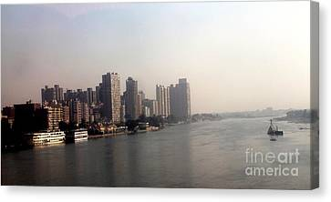 On The Nile River Canvas Print