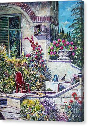 On The Porch Canvas Print by Sinisa Saratlic