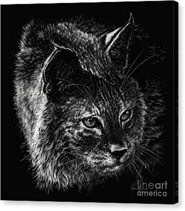 On The Prowl- Bobcat Canvas Print by Laurie Musser
