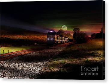 On The Prowl Canvas Print by Rick Lipscomb