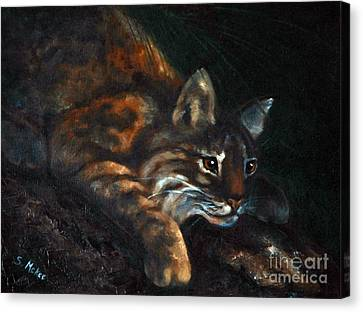 Canvas Print featuring the painting On The Prowl by Suzanne McKee
