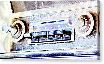 On The Radio Canvas Print by Barbara Griswold-Kridner