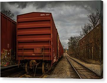 Canvas Print - On The Right Track by Eclectic Art Photos