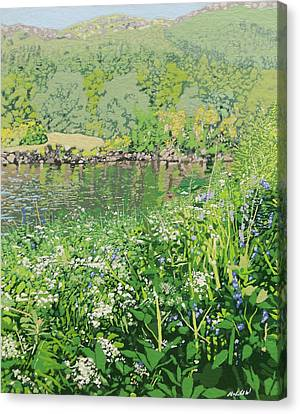 On The Riverbank  Canvas Print