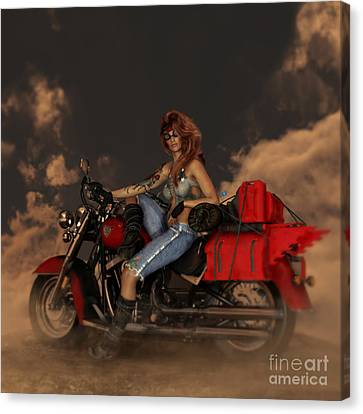 Canvas Print featuring the digital art On The Road Again by Shanina Conway