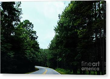 Canvas Print featuring the photograph On The Road by Andrea Anderegg