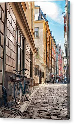 On The Road Of Stockholm Canvas Print by Emanuele Carlisi