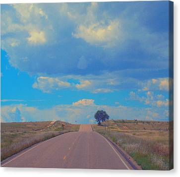 Robert Morrissey Canvas Print - On The Road Oklahoma Revisited by Robert Morrissey