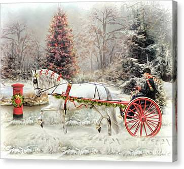 On The Road To Christmas Canvas Print