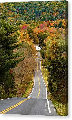 On The Road To New Paltz Canvas Print