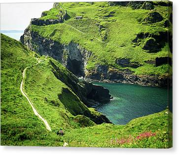 Canvas Print featuring the photograph On The Road To Tintagel by Connie Handscomb