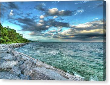 Canvas Print featuring the photograph On The Rocks by Anthony Rego
