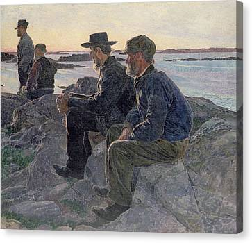 On The Rocks At Fiskebackskil Canvas Print by Carl Wilhelm Wilhelmson