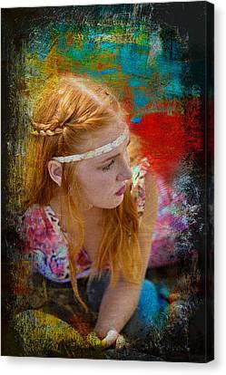 On The Rocks  Canvas Print by Pamela Patch
