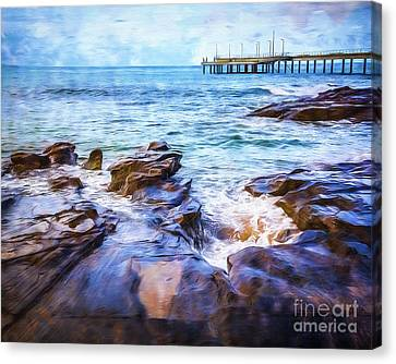 Canvas Print featuring the photograph On The Rocks by Perry Webster