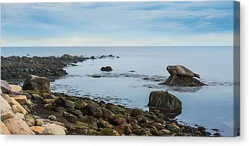 Canvas Print featuring the photograph On The Rocks by Robin-Lee Vieira
