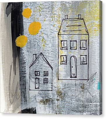 Loft Canvas Print - On The Same Street by Linda Woods